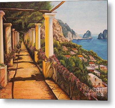 Arbor Walk In Capri Metal Print by Charlotte Blanchard