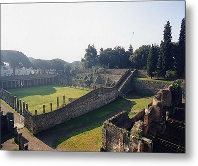 Metal Print featuring the photograph Arcaded Court Of The Gladiators Pompeii by Marna Edwards Flavell
