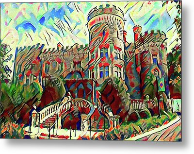 Arcadia College - Grey Towers Castle Watercolor Metal Print by Bill Cannon