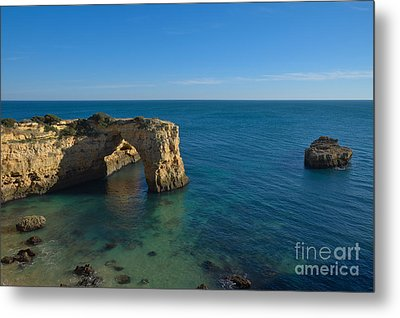 Arch And Ocean In Albandeira Metal Print by Angelo DeVal