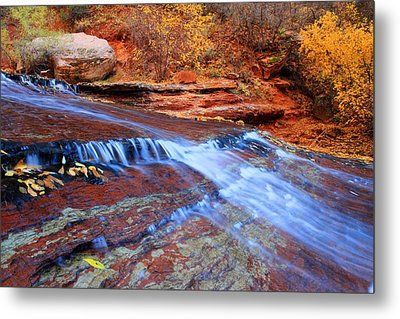 Arch Angel Falls In Zion Metal Print by Pierre Leclerc Photography