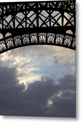 Metal Print featuring the photograph Arch At The Eiffel Tower by Heidi Hermes