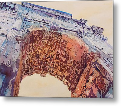 Arch Of Titus Two Metal Print