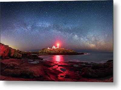 Arch Over Nubble - Panorama Metal Print by Michael Blanchette