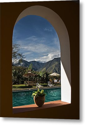 Metal Print featuring the photograph Arch View by Ron Dubin
