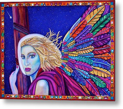 Metal Print featuring the painting Archangel Ariel by Lori Miller