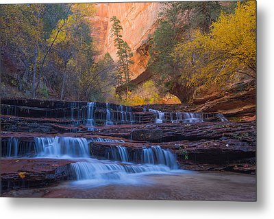 Metal Print featuring the photograph Archangel Falls In Autumn by Patricia Davidson