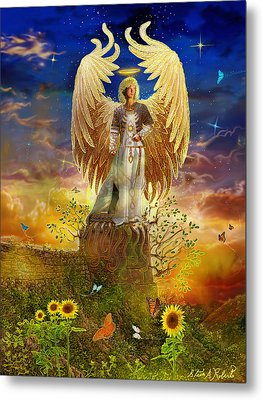 Archangel Uriel Metal Print by Steve Roberts