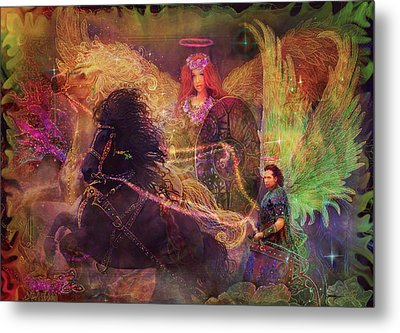 Archangels Ariel And Metatron Metal Print