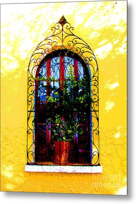 Arched Window By Darian Day Metal Print by Mexicolors Art Photography
