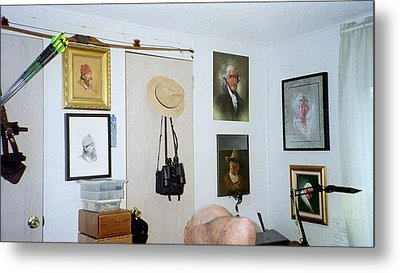 Archery And Art And Camera And Historypart Of My Studio Metal Print by Mahto Hogue