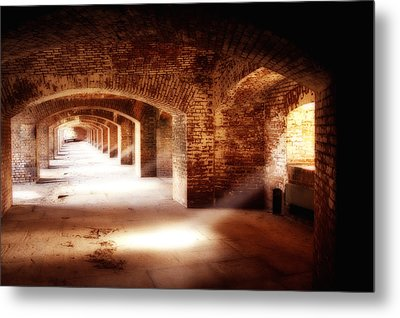 Arches And Beaming Light  Metal Print by George Oze