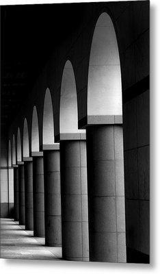 Arches And Columns 1 Metal Print by John Gusky