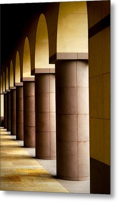 Arches And Columns 2 Metal Print by John Gusky