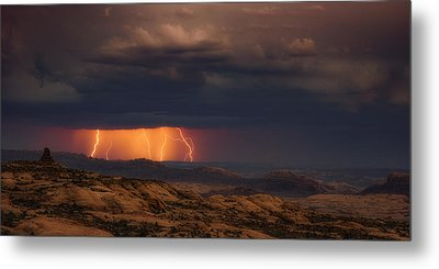 Arches Light Show Metal Print by Darren White