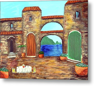 Arches Of Amalfi  Metal Print by Larry Cirigliano