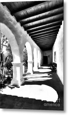 Arches Of Southern California Bw Metal Print