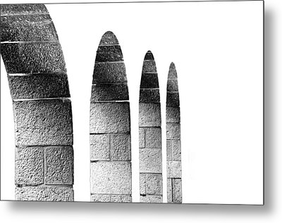 Arches Per Israel - White And Black Metal Print by Deb Cohen