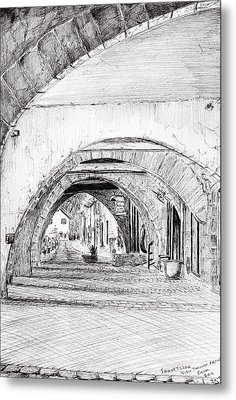 Arches Sauveterre France Metal Print by Vincent Alexander Booth