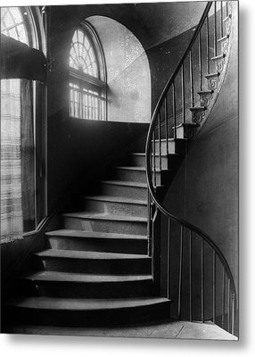 Arching Stairwell Metal Print