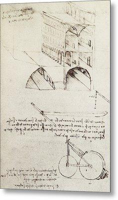 Architectural Study Metal Print by Leonardo Da Vinci