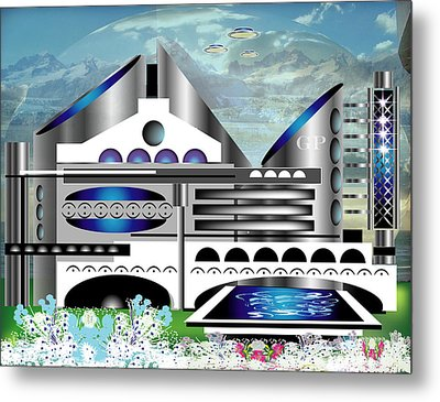 Architecture 1a Metal Print by George Pasini