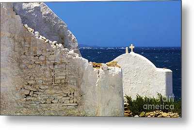 Metal Print featuring the photograph Architecture Mykonos Greece 2 by Bob Christopher