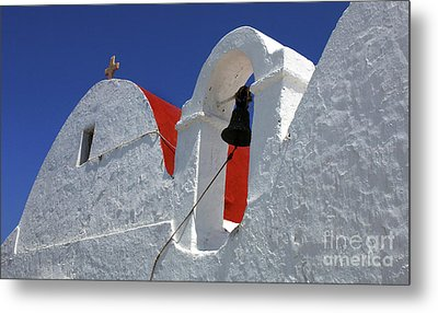 Metal Print featuring the photograph Architecture Mykonos Greece by Bob Christopher