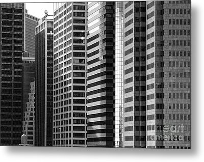 Architecture Nyc Bw Metal Print by Chuck Kuhn