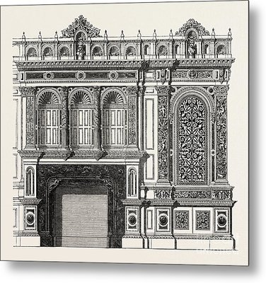 Architecural Plan For The Side Of A Library Metal Print