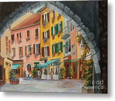 Archway To Annecy's Side Streets Metal Print