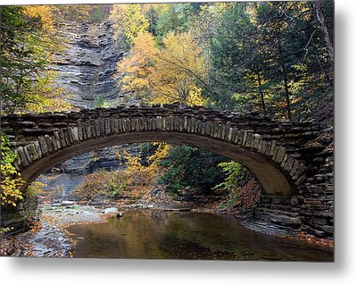 Metal Print featuring the photograph Archway To Autumn by Timothy McIntyre