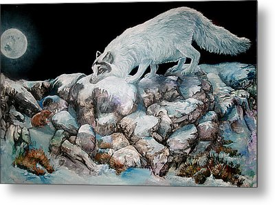 Metal Print featuring the painting Arctic Encounter by Sherry Shipley