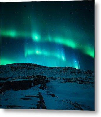 Arctic Glow Metal Print by Tor-Ivar Naess