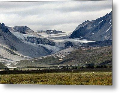 Arctic Man Glacier Metal Print