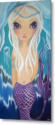 Arctic Mermaid Metal Print by Jaz Higgins