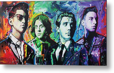Metal Print featuring the painting Arctic Monkeys by Richard Day
