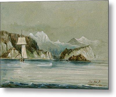 Arctic Seascape Metal Print
