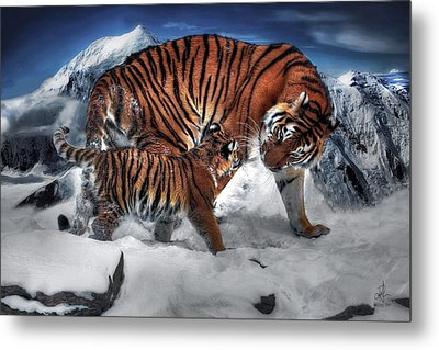 Metal Print featuring the digital art Are We There Yet by Pennie McCracken
