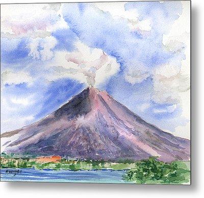 Arenal Volcano Costa Rica Metal Print