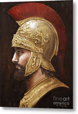 Metal Print featuring the painting Ares by Arturas Slapsys