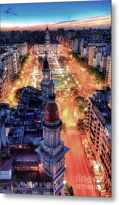 Argentina National Congress Metal Print by Bernardo Galmarini