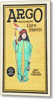 Argo Corn Starch Wall Advertising Metal Print
