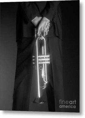 Ari And Trumpet Metal Print by Tony Cordoza