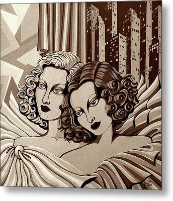 Arielle And Gabrielle In Sepia Tone Metal Print by Tara Hutton