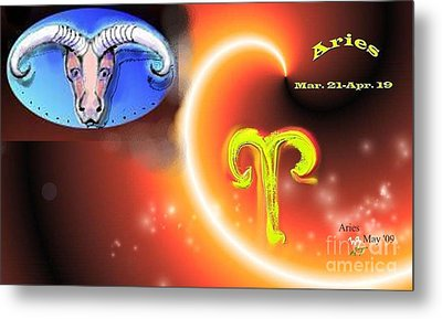 Metal Print featuring the painting Aries by The Art of Alice Terrill