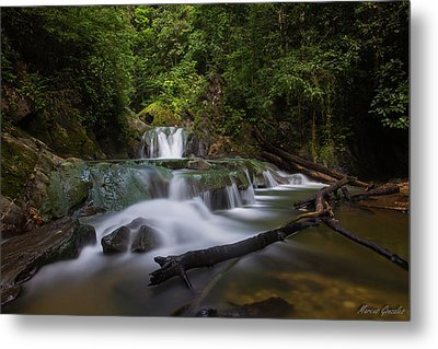 Aripo Waterfall Metal Print by Marcus Gonzales