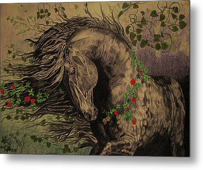 Aristocratic Horse Metal Print by Melita Safran