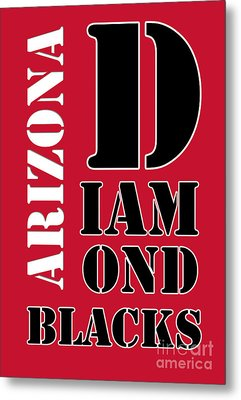 Arizona Diamondbacks Baseball Typography Red Metal Print by Pablo Franchi