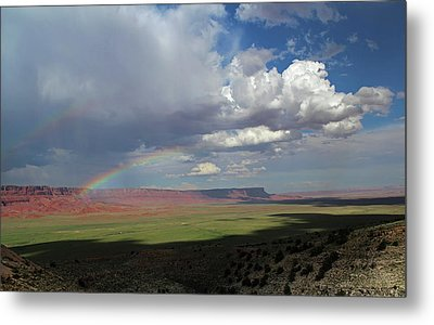 Arizona Double Rainbow Metal Print by Jerry LoFaro